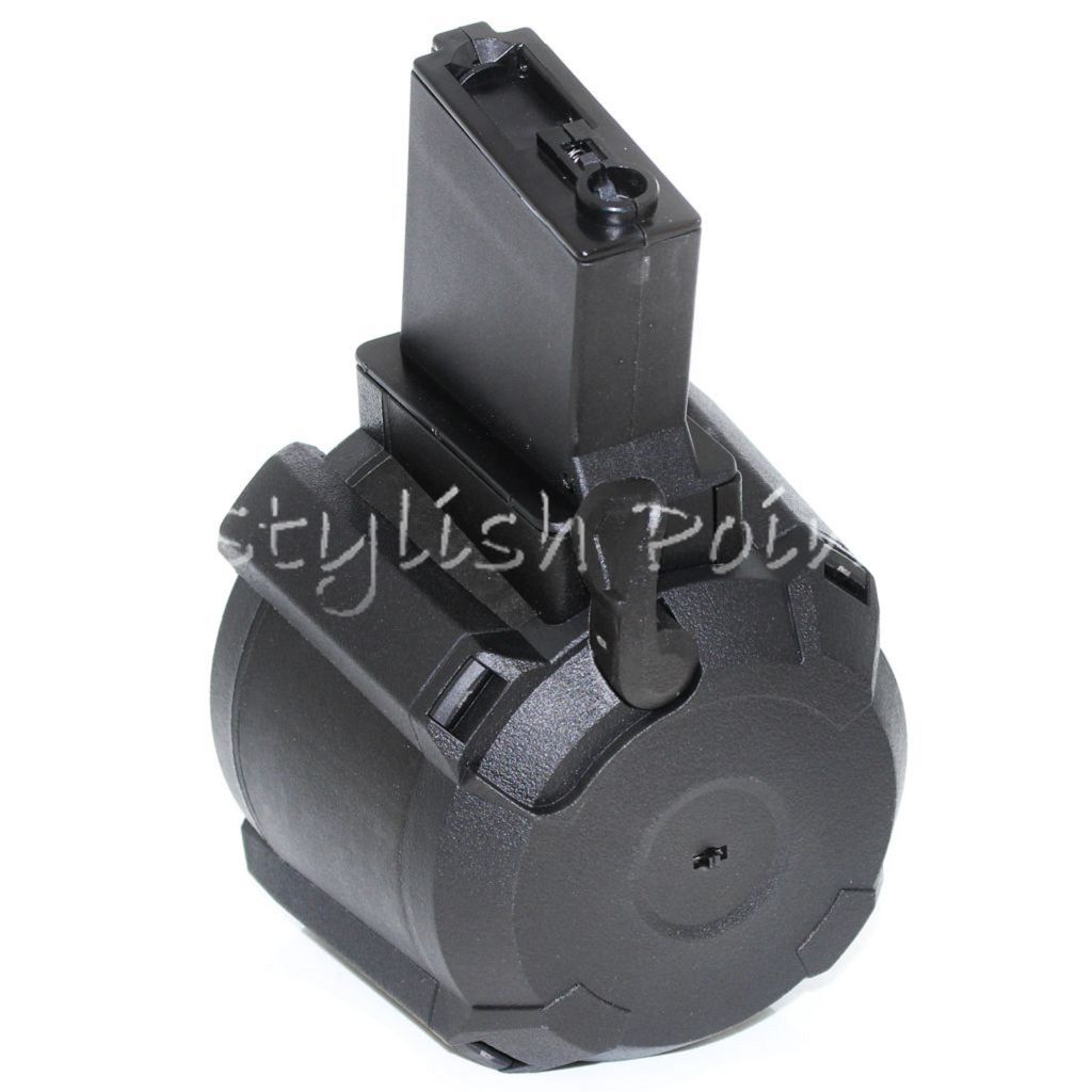 Airsoft 1400rd Electric Sound Control Drum Mag Magazine